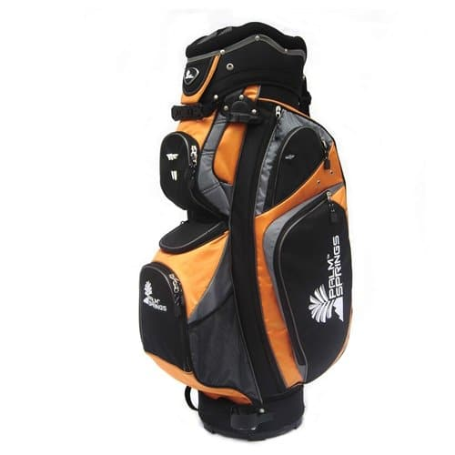 Palm Springs Golf Orange/Silver 14 Way Divider Cart Bag