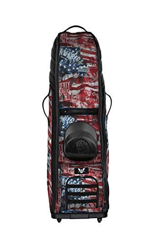 Subtle Patriot Men's Golf Bag Travel Cover with Wheels