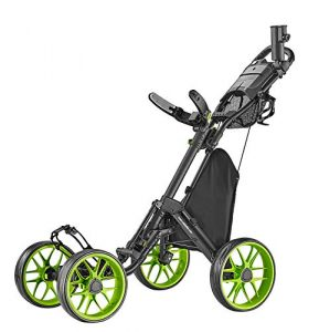 CaddyTek 4 Wheel Golf Push Cart