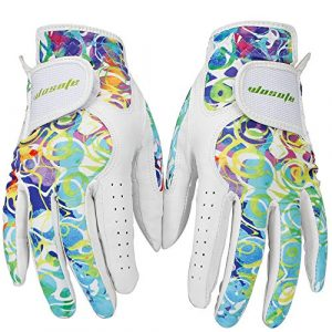 wosofe Golf Gloves for Women Ladies Soft Leather