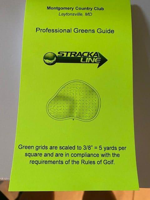 Golf green reading book