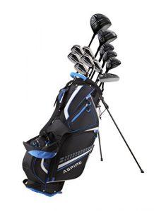 Aspire 19 Piece Men's Complete Golf Club Package Set with Titanium Driver
