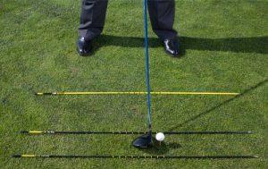 Narrow setup with golf alignment rods - AEC Info